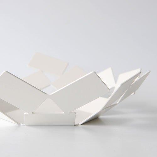 Alessi La Stanza dello Scirocco Fruttiera, Acciaio Inossidabile, Bianco, 24.5x23.2x6.2 cm