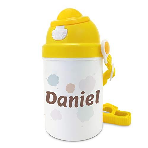 Botella de Agua para niños sin BPA Personalizada. Regalos Infantiles Personalizados. Tapón Botella de plástico Personalizada. Plástico Libre de BPA. Osito