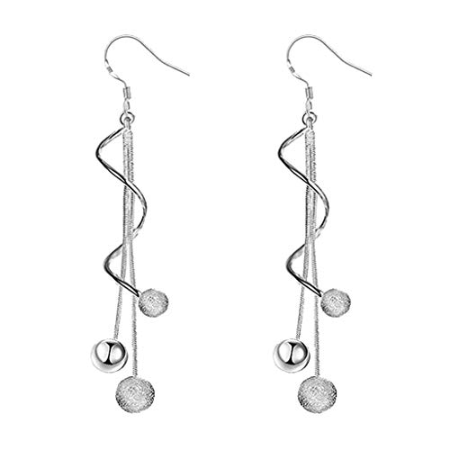 Mypace 925 Silber Gold Set Creolen hängende Ohrringe Für Damen Mode Einfache Stil Lange Anhänger Galvani Perlen Ohrringe Schmuck