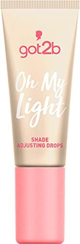 got2b Shade Adjusting Drops Oh My Light, Tropfen hellen die Foundation je nach gewünschter Intensität auf, anwendbar mit jedem Make-up, 8 ml