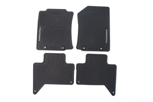 Genuine Toyota Accessories PT908-35122-20 Front and Rear All-Weather Floor Mat (Black), Set of 4