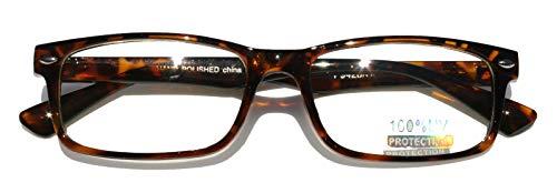 Casual Fashion Horned Rim Rectangular Frame Clear Lens Eye Glasses (Tortoise)