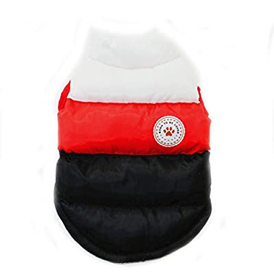 N / A Pet Winter Clothes,Dog Winter Warm Coat Jackets Dog Clothing Costume for Puppy Small Dogs (S, Black)