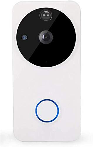 Timbre de video inalámbrico, timbre inteligente WiFi 720P HD, cámara de seguridad de lente gran angular de 166°, conversación y vídeo en tiempo real, detección de movimiento PIR, para iOS/Android