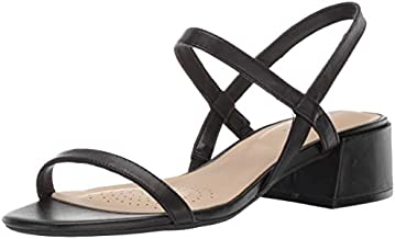 Kenneth Cole New York Women's Maise Low Block Heel Strappy Sandal Heeled, Black, 7.5 M US