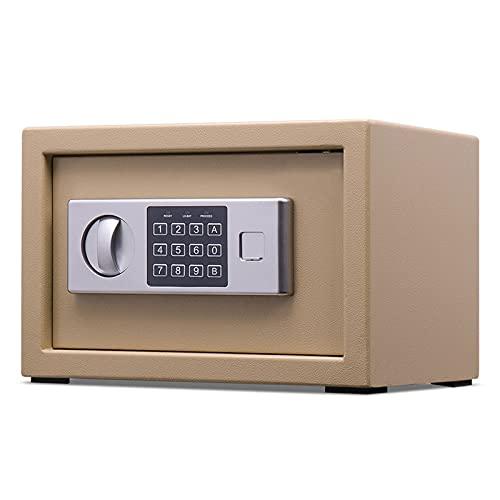GQTYBZ Caja Fuerte Pequeña, Caja Fuerte de Seguridad a Prueba de Fuego con Dispositivo de Alarma, Construcción de Acero SóLido Caja Fuerte de Antirrobo, para el Hogar/Negocios/Oficina/Hotel