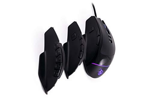 Deep Gaming ProSwap, Ratón Modular USB con 3 Paneles Laterales Intercambiables (3, 5 y 10 Botones), luz RGB, Sensor óptico Pixart 3325, 500FPS, 100IPS, 1000Hz, Switches Huano, Peso Regulable