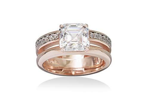 MARINA GARCIA Windor - Anello in argento Sterling con bagno in oro rosa