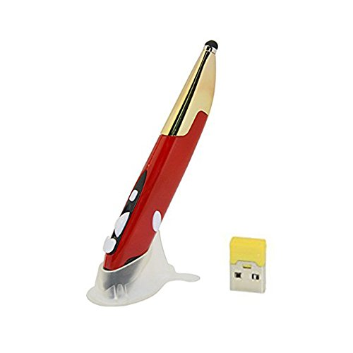 UrChoiceLtd óptico de lápiz capacitivo PR-06 actualizado británico pluma ratón inalámbrico 2,4 gHz ajustable 800/1200/1600DPI escritura Smart ganimg ratón para iMac Android Tablet 3 colores