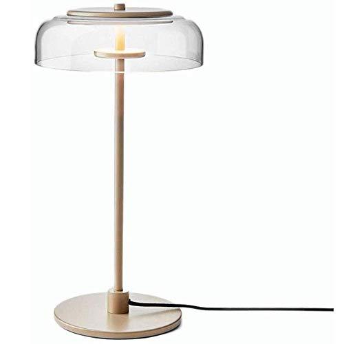 HTL Lectura de la Lámpara de Iluminación Decorativa Tradicional Lámparas de Mesa de Madera Conjunto de Bronce Tallada Hoja Crema Sombra de Bell para el Dormitorio de la Sala de la Familia