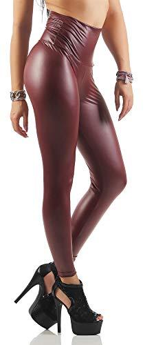 AE damesleggings wet-look zwart zilver goud roze grijs glans legging maat S, M, L, XL, 2XL, 3XL, 4XL, p904.