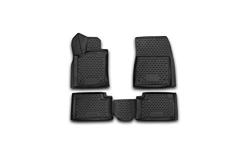 Element EXP.NLC.3D.24.09.210 3D Passgenaue Premium Antirutsch Gummimatten Fußmatten Jeep Grand Cherokee IV WK2 2011-2020, Schwarz, Passform