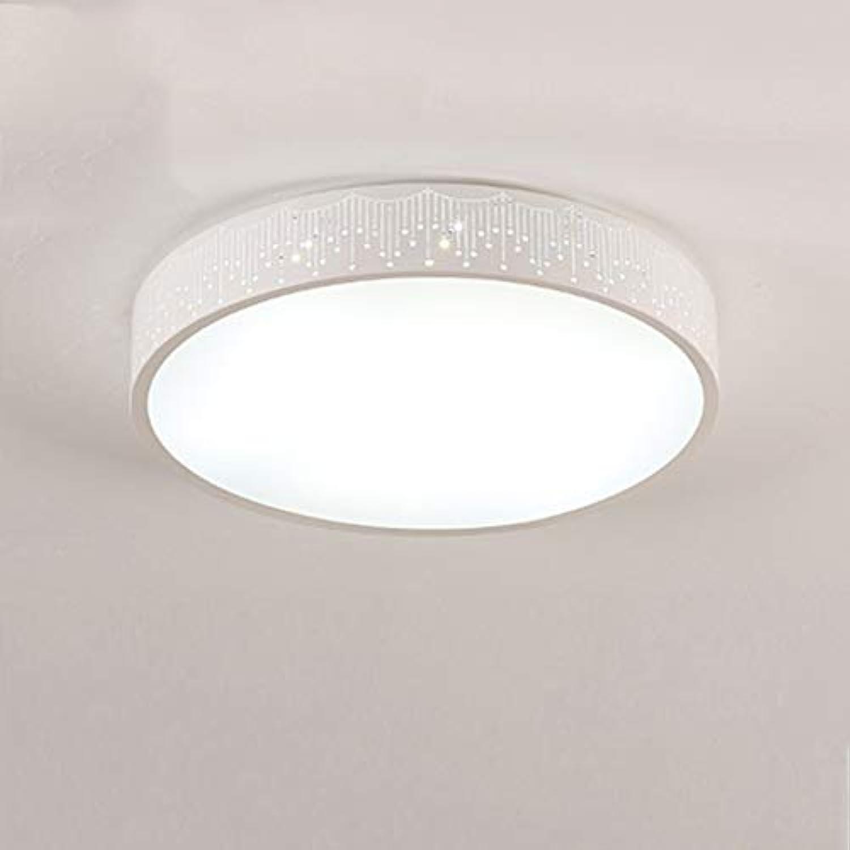 CUICANH Moderner LED Deckenleuchte Runde, Einfache Eisen Deckenlampe Mit fernbedienung Für Schlafzimmer Kinderzimmer Wohnzimmer Lampen-C-weies Licht (16inch)-36W