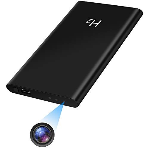 UYIKOO Caméra Cachée Espion 2 en 1 Mini Caméra Cachée avec Banque D énergie 5000mAh pour Caméra de Sécurité Domestique Supportant la Vision Nocturne et L enregistrement en Boucle