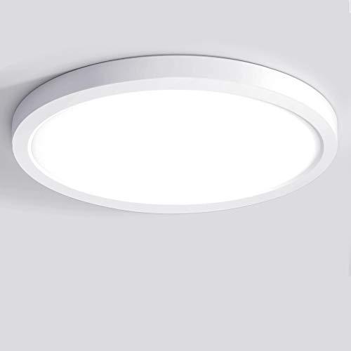 Oeegoo LED Deckenleuchte Rund, 12W Flimmerfreie Deckenlampe, 13mm Ultraslim Neutralweiß Lamp für Wohnzimmer, Schlafzimmer, Kinderzimmer, Küche, Flur, Balkon, Korridor, 4000K