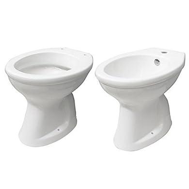 Foto di Bagno Italia Sanitari in ceramica vaso wc e bidet con scarico a parete o a terra l