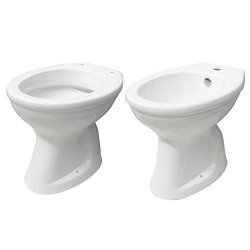 Bagno Italia Sanitari in ceramica vaso wc e bidet con scarico a parete o a terra l