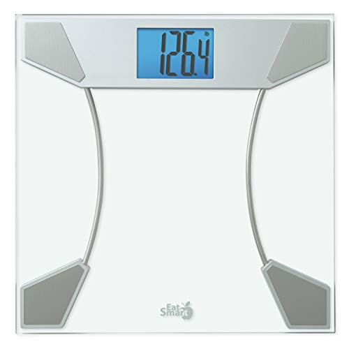 Eat Smart Digital Bath Scale, Clear Glass