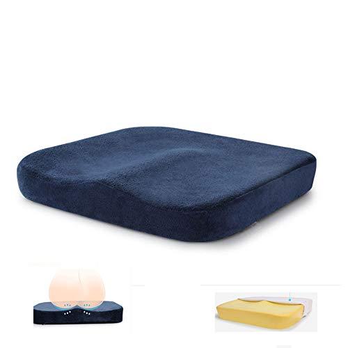 BIHIKI Coccyx Orthopedic Memory Foam Seat Cushion,Soft Comfort Seat Pads for Car Office Home Chair Bottom Seats Massage Cushion Pad