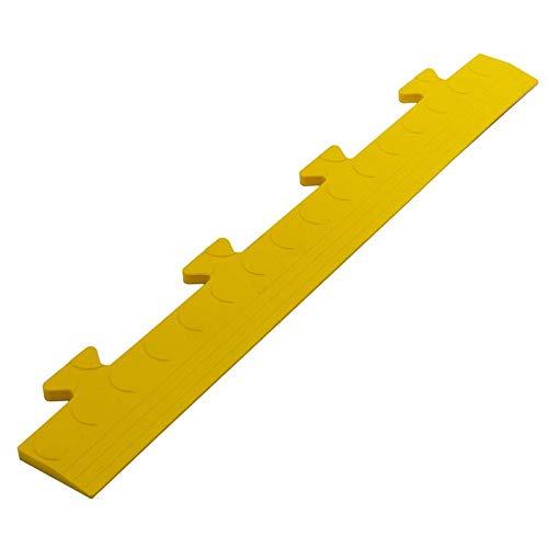 10x Randleisten MALE gelb PVC Boden Klick Fliesen Platte Klicksystem Garage Werkstatt Camping Kunststoff