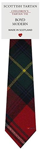 I Luv Ltd Garçon Tout Cravate en Laine Tissé et Fabriqué en Ecosse à Boyd Modern Tartan