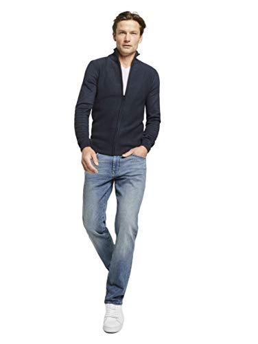 TOM TAILOR Herren Marvin Straight Jeans, Light Stone Wash Denim, 30W / 34L