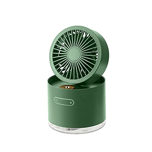 Spray Cooling Air Conditioner Fan Desktop Cooling Magic Small Mini Ultra-quiet Humidifier Fan Two In One Rechargeable Portable, The Best Choice For Office Desks And Dormitories To Relieve Hea(Color:A)