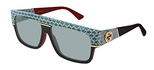 Gucci Gafas de Sol GG0483S LIGHT GREEN/LIGHT GREEN 60/14/140 hombre