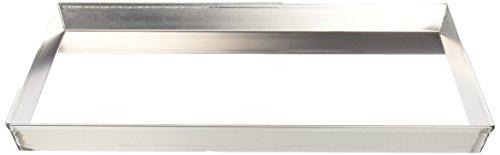 Ballarini 7044.40 Teglia Rettangolare, Angoli Svasati con Bordo in Alluminio Crudo, 40x30 cm