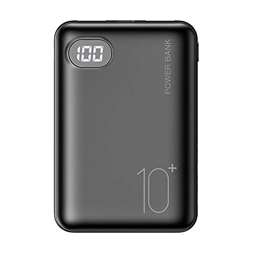 Mini Power Bank 10000 MAH Tres Entrada Pantalla Digital Bateria Externa Mobile para Xiaomi iPhone Powerbank Cargador portátil