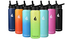 COMES W/BONUS CAP – PLEASE SEE PHOTOS. Each bottle comes with two lids. The Hydro Cell Water Bottle comes standard with an attached stainless-steel screw cap which creates an air tight vacuum seal and is great for travel and outdoor adventures. The H...