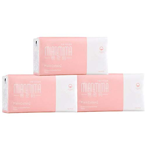 DALL Wegwerp Gezicht Handdoek Nat Droog Dual-use Katoen Weefsel 100% Natuurlijke Katoen Gevoelige Huidverzorging 100 Stks - 3 Packs