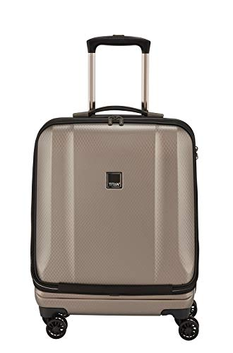 """TITAN Valise trolley business """"Xenon Deluxe"""" champagne Koffer, 55 cm, 40 liters, Beige (Champagne)"""