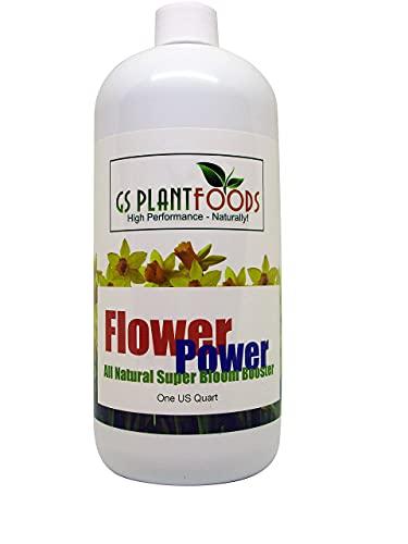 Flower Fertilizer - All Natural Super Bloom Booster (1 Quart) - Plant Food Suitable for All Flower Types - Bloom Fertilizer for Outdoor Flowers