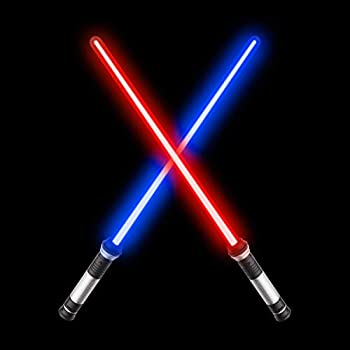 sugoiti Light Sabers for Kids,Upgrade 2-in-1 LED FX Dual Saber with Sound  Motion Sensitive  for Warriors and Galaxy War Fighters Stocking Idea Xmas Presents