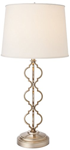 Clove Battery Operated Cordless Table Lamp - Warm Silver Metal - Decorative, Rechargeable, Battery Operated, Wireless Lamp