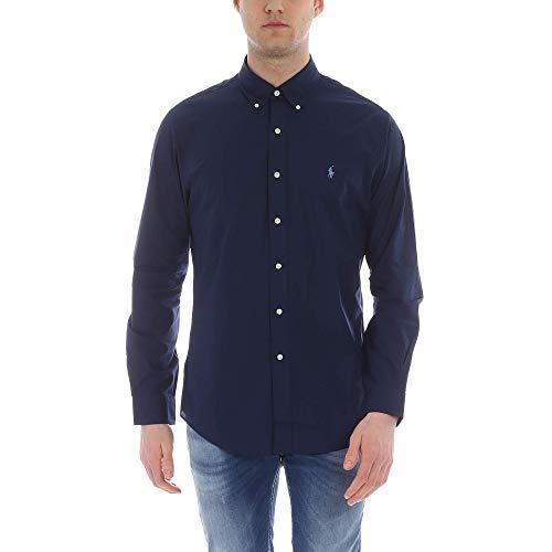 Polo Ralph Lauren Long Sleeve Sport Shirt Camicia Uomo Slim Fit-Navy-S
