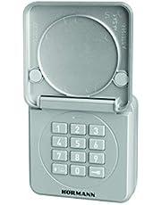 Hörmann Draadloze codeknop FCT 10-1 BS (868 MHz, voor maximaal 10 poortaandrijvingen, toetsenbord verlicht, klapdeksel, kleur RAL 9006) 4511861, grijs