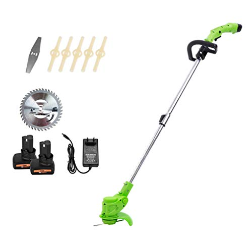 Review Portable Trimmer Edger, 450W Motor/Copper Motor / 10-300mm Retractable / 2ah Lithium Battery,...