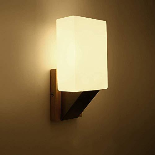 Apliques Pared Pasillo del pasillo del LED del rectángulo Cuboide lámpara de pared de comedor Salón Dormitorio Estudio Balcón Escaleras de madera vaso caliente de hardware amarillo claro simple modern