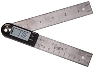 """iGaging Digital Protractor with 7"""" and 4"""" Stainless Steel Bladed"""