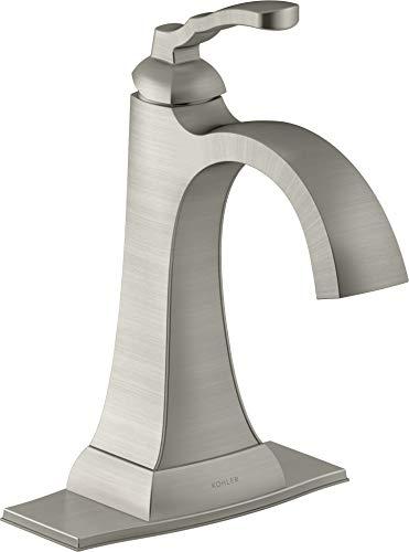 KOHLER K-R30996-4D-BN Ridgeport Bathroom Sink Faucet, Vibrant Brushed Nickel