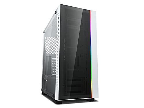 DeepCool Matrexx 55 V3 White Case ATX USB 3.0 PC Gaming 0.6MM SPCC Front Tempered Glass 1*Strip RGB Rainbow Addressable SYNC 5V ADD-RGB Pannello Laterale in Vetro Temperato (AxPxL 480x446x210 mm)