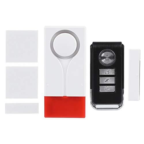 Tangxi Magentic Sensor Alarm, 108dB Sistema de Seguridad de Alarma Antirrobo de Puerta Inalámbrica Imán de Vibración Senso con Control Remoto para el Hogar/Oficina