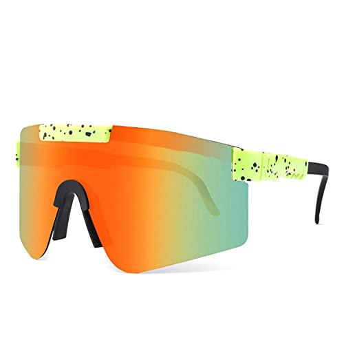MAVL Gafas de sol UV400 para hombres y mujeres, deportes al aire libre, polarizadas, gafas de sol, aviador, deportes para hombre y mujer (color C14)
