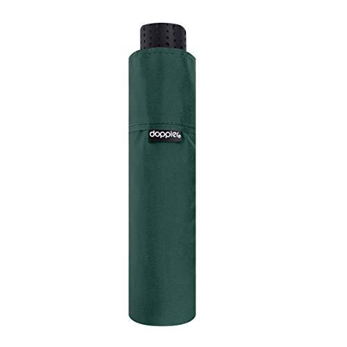 doppler Taschenschirm Fiber Havanna Uni – Super leicht – Kompakte Größe – 22 cm – Evergreen