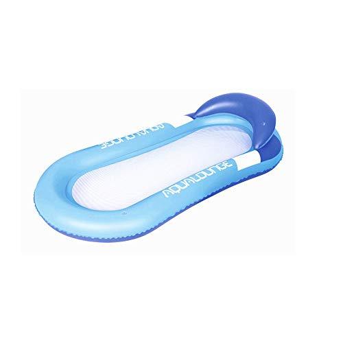 Opblaasbaar drijvend bed, recliner, Aqua Lounger Pool Float met Inflator, voor buitenactiviteiten Zwemmen Watersport voor volwassenen Kinderen
