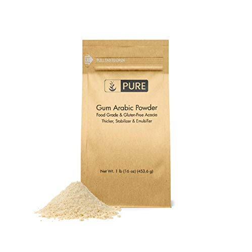 Gum Arabic (Acacia) Powder (1 lb.) by Pure Organic Ingredients, Essential Ingredient for DIY Watercolor Paints, Craft Cocktails, Royal Icing, Ice Cream, and Much More