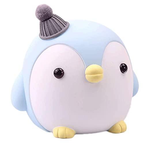 CHENMAO Hucha Hucha para niña, Banco Lindo de la Moneda de pingüino de la Historieta, para la decoración de Regalo de Adultos de la Muchacha Nuevo sí, el cumpleaños.
