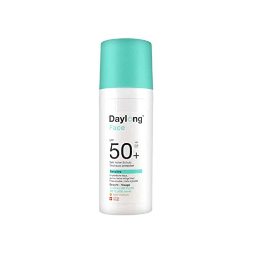 Daylong Face Sensitive bräunende Sonnencreme, BB-Fluid, LSF 50+, 50 ml